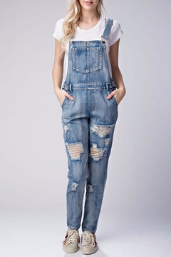 Shoptiques Product: Distressed Denim Overalls