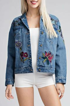 Shoptiques Product: Embroidered Denim Jacket