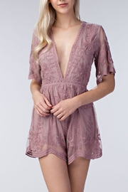 Honey Punch Embroidered Lace Romper - Product Mini Image