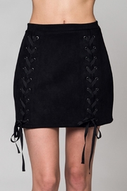 Honey Punch Black Faux Suede Skirt - Product Mini Image