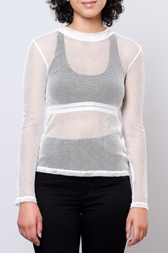 Honey Punch Fitted Mesh Top - Product List Image