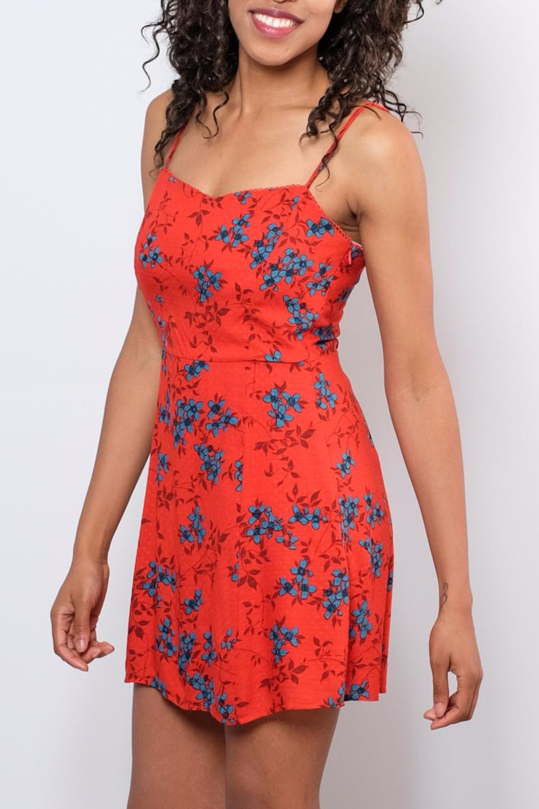 Honey Punch Floral Cami Dress - Front Full Image