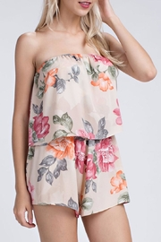 Honey Punch Floral Romper - Product Mini Image