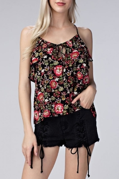 Shoptiques Product: Floral Ruffle Tank Top