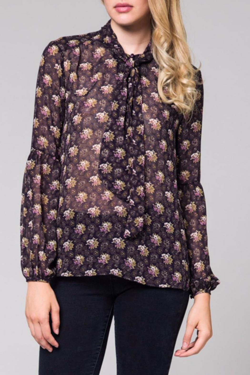 Honey Punch Floral Sheer Blouse - Main Image