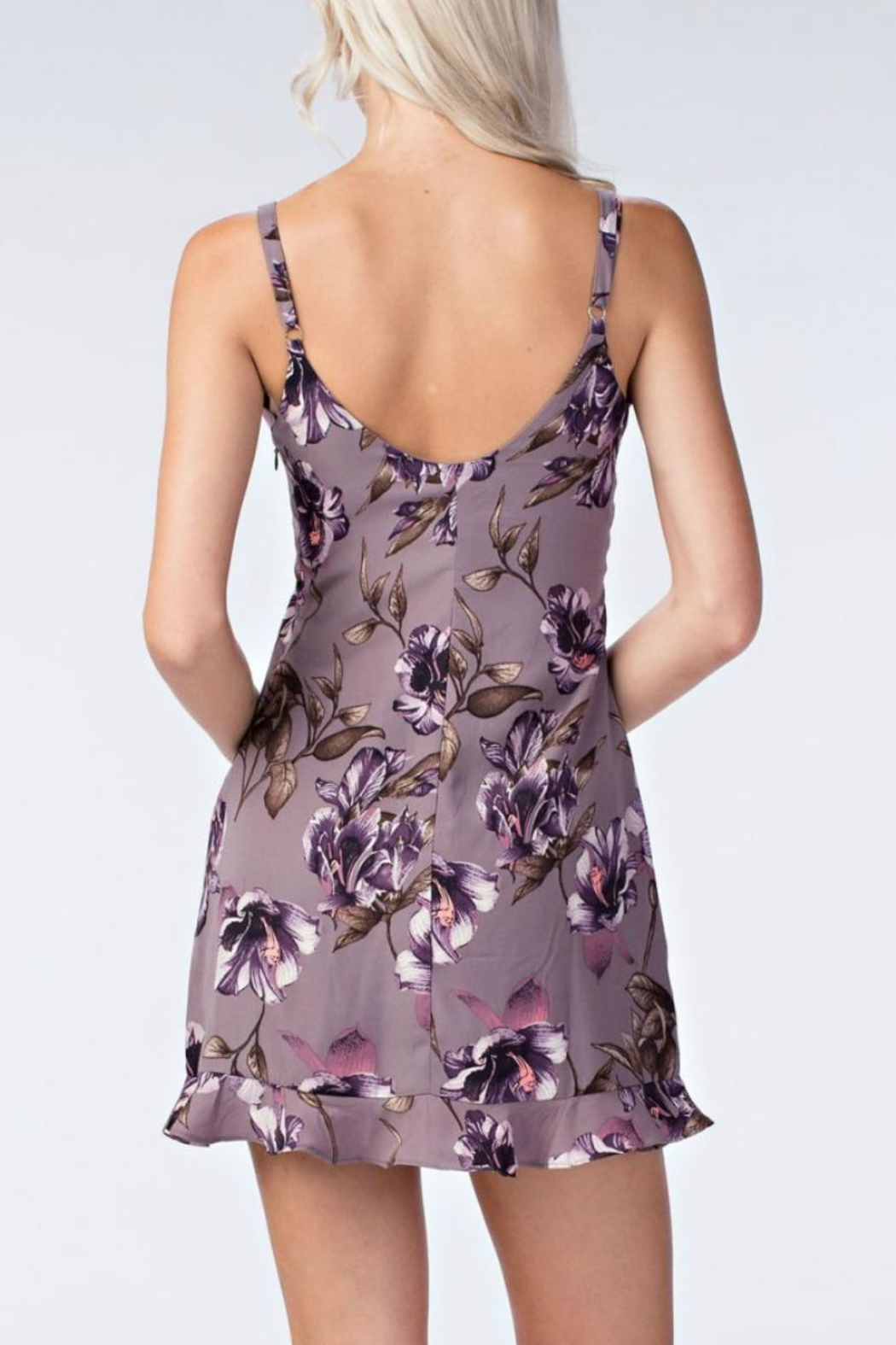 Honey Punch Floral Slip Dress - Front Full Image
