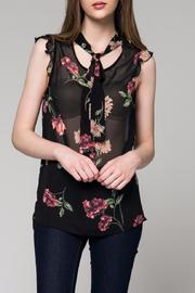 Honey Punch Floral Tie Blouse - Product Mini Image