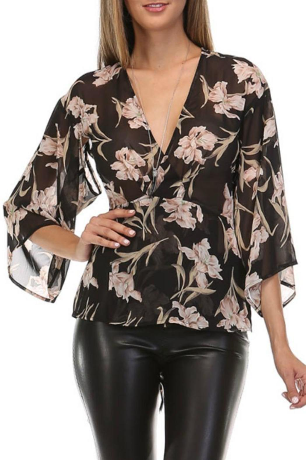 216ab1de988 Honey Punch Floral Wrap Blouse from California by Zae s Boutique ...