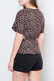 Honey Punch Floral Wrap Top - Side cropped
