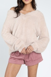 Honey Punch Furry Knit Sweater - Product Mini Image