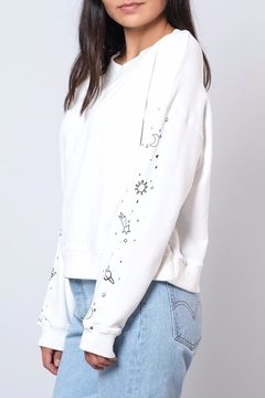 Honey Punch Galaxy Sleeve Sweatshirt - Product List Image