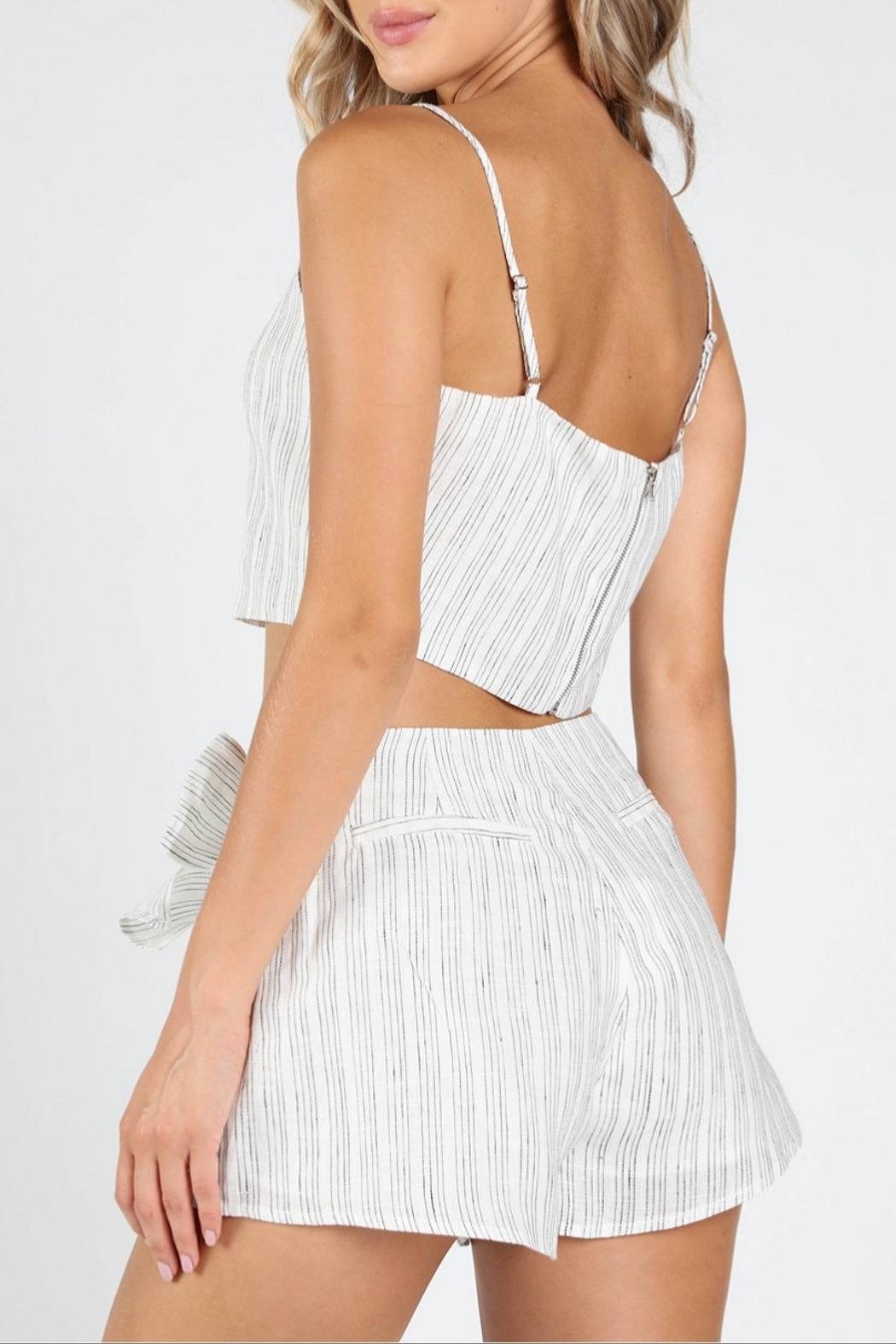 Honey Punch Get-Stripe To-It Crop-Top - Side Cropped Image