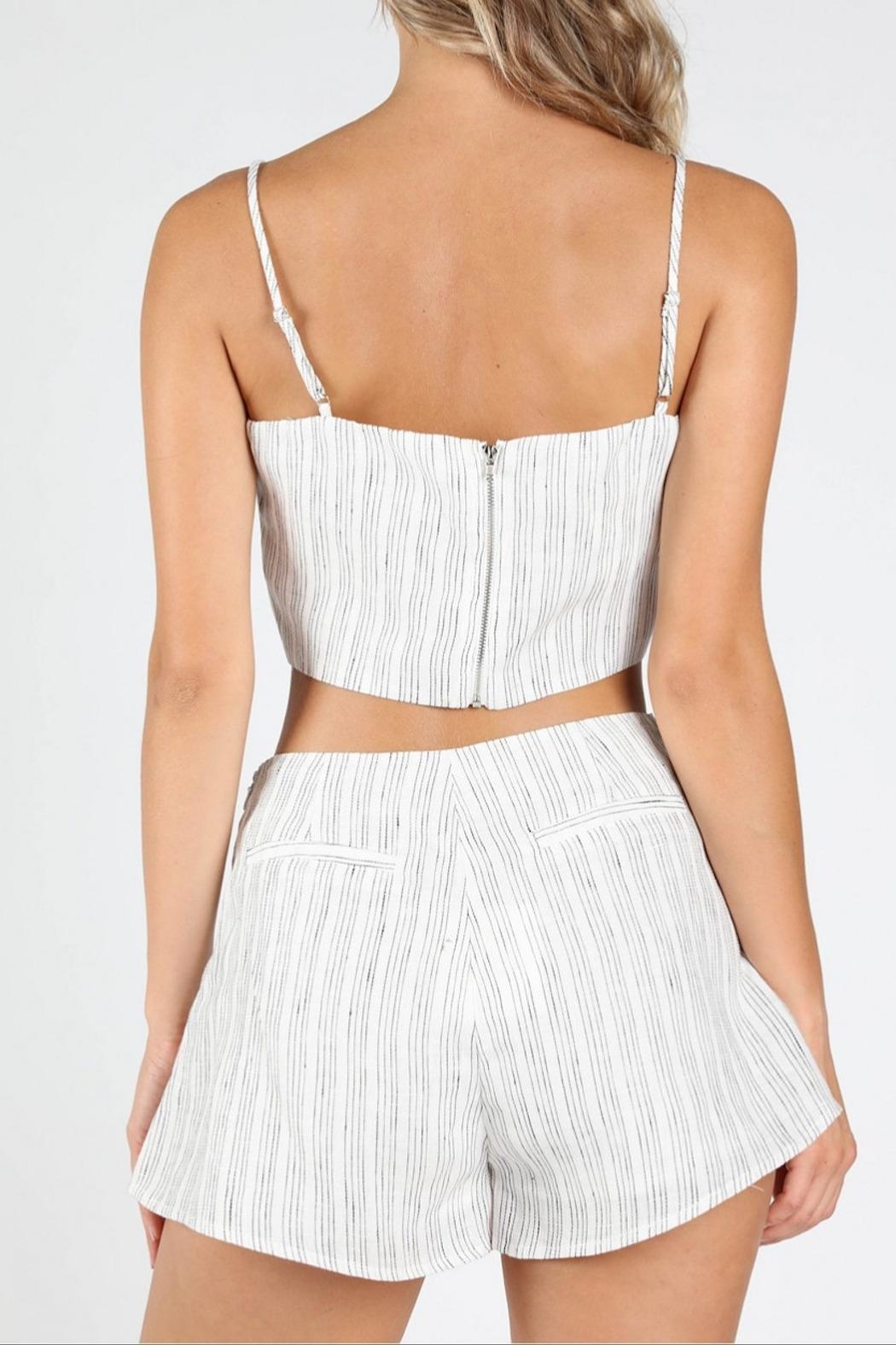 Honey Punch Get-Stripe To-It Crop-Top - Back Cropped Image