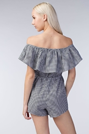Honey Punch Gingham Romper - Side cropped