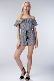 Honey Punch Gingham Romper - Front cropped