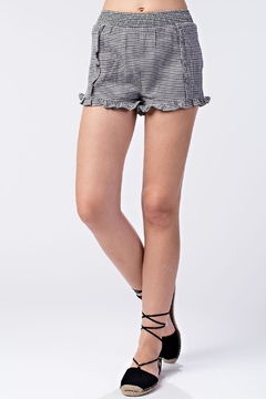 Shoptiques Product: Gingham Ruffle Shorts