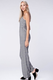 Honey Punch Grey Plaid Jumpsuit - Side cropped