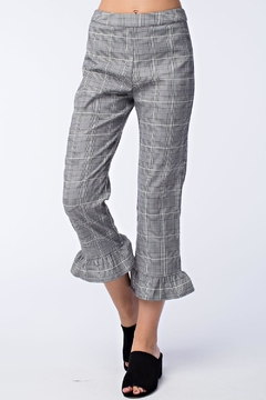 Shoptiques Product: Grey Plaid Pants