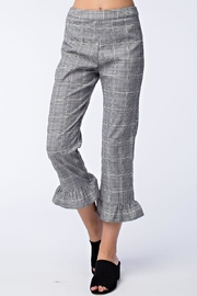 Honey Punch Grey Plaid Pants - Product Mini Image