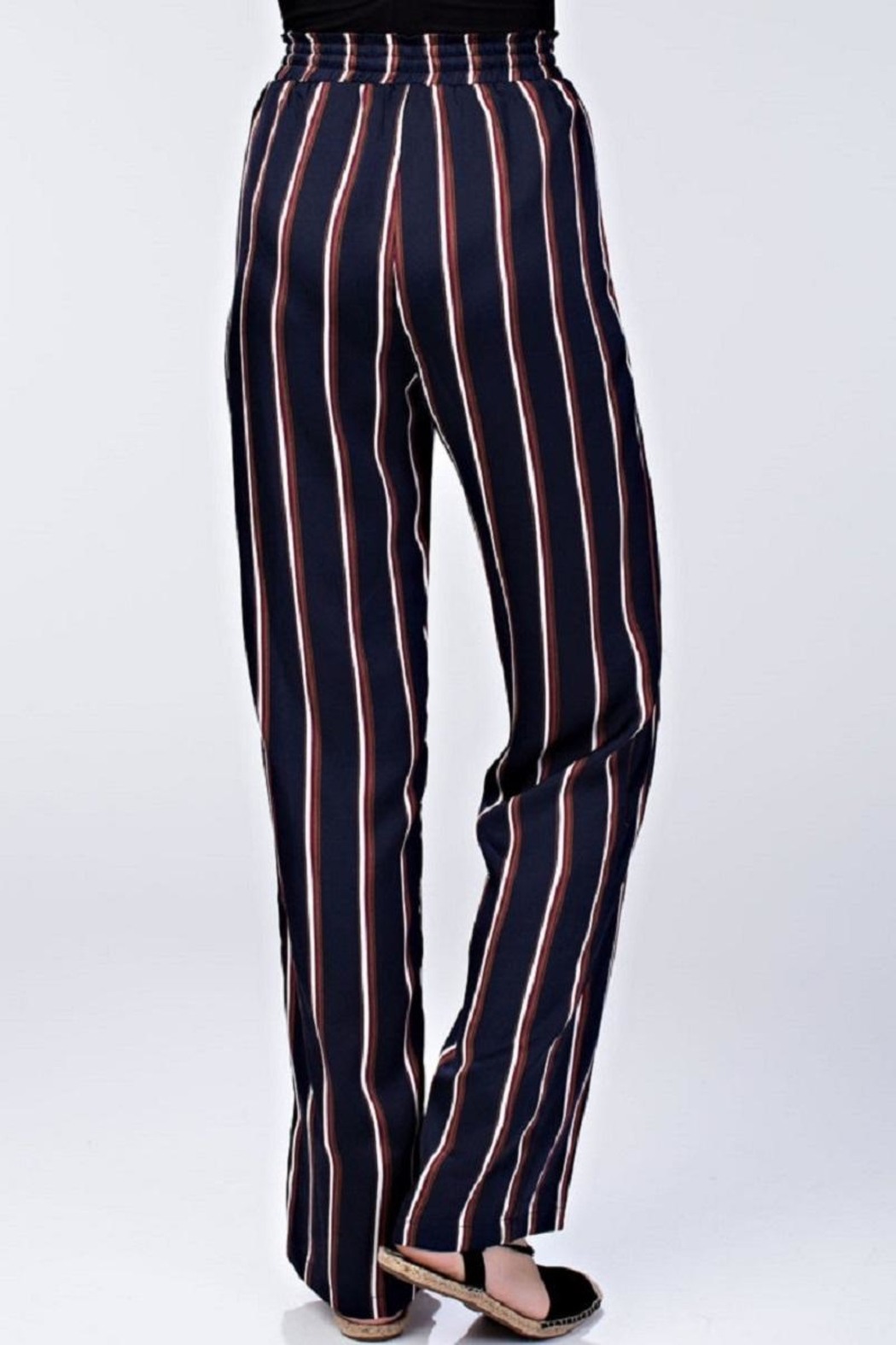 Honey Punch High Waist Striped Pants - Front Cropped Image