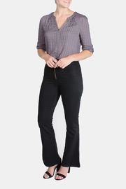 Honey Punch High Waisted Bell Bottoms - Front full body