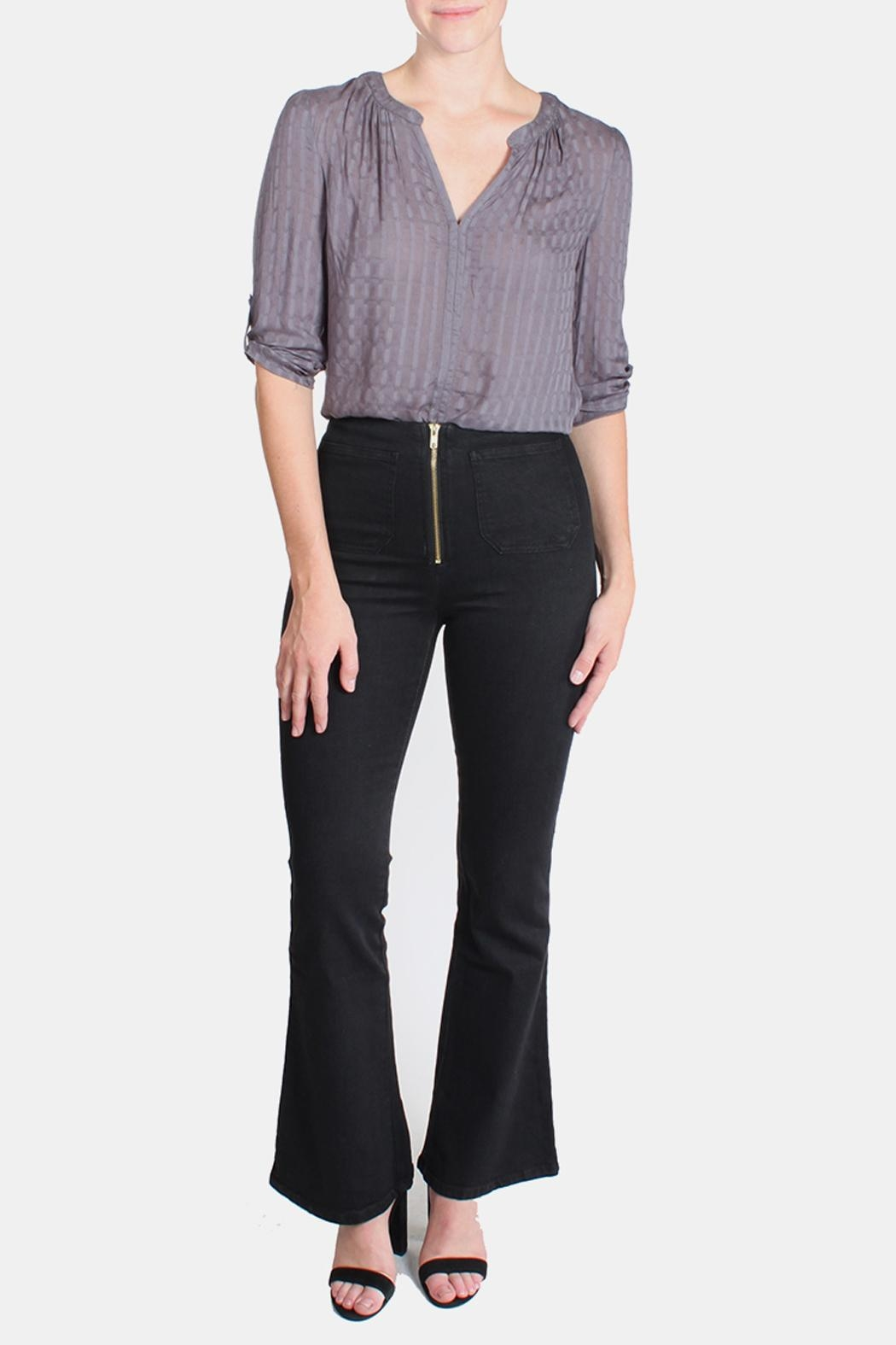 Honey Punch High Waisted Bell Bottoms - Main Image