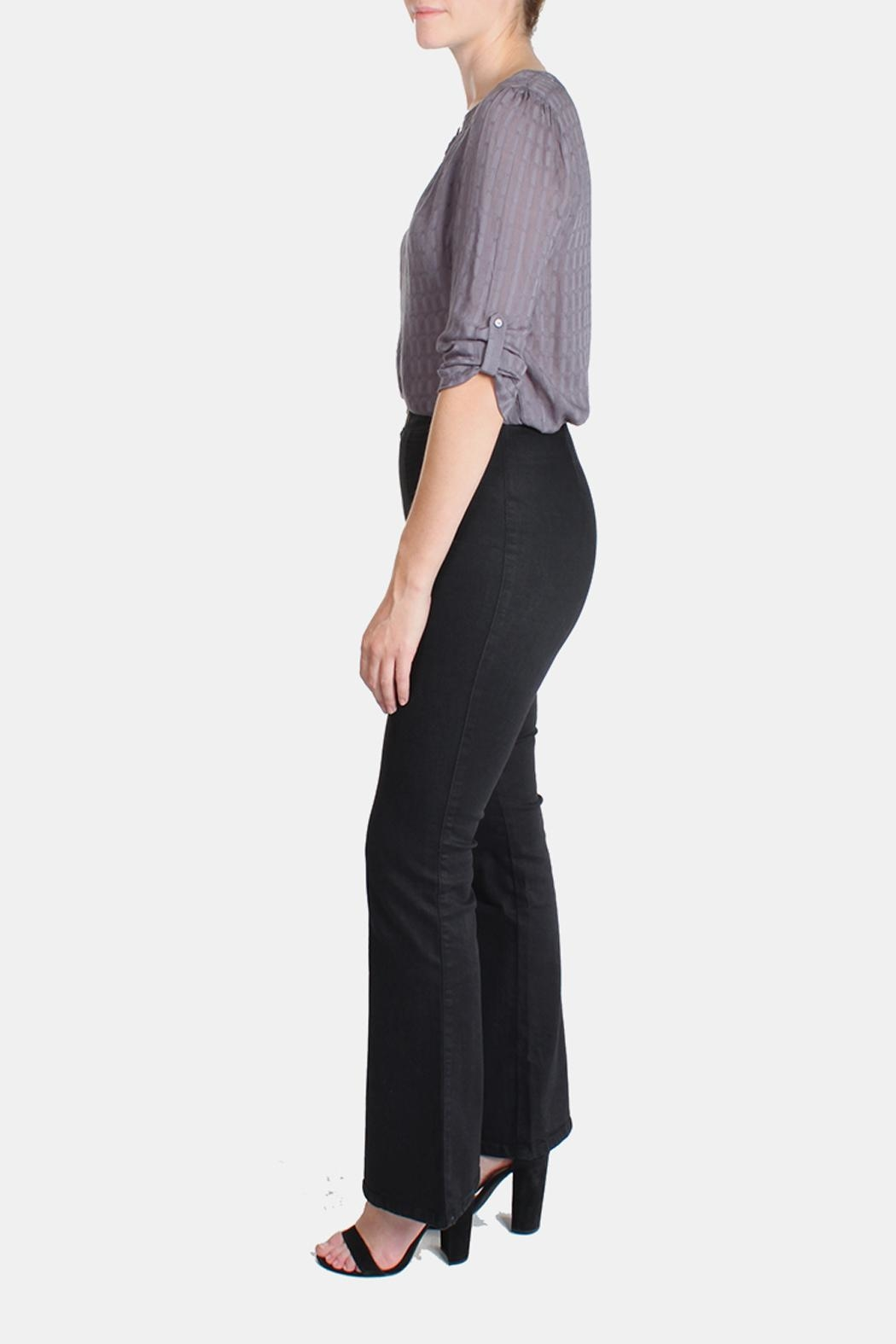 Honey Punch High Waisted Bell Bottoms - Side Cropped Image