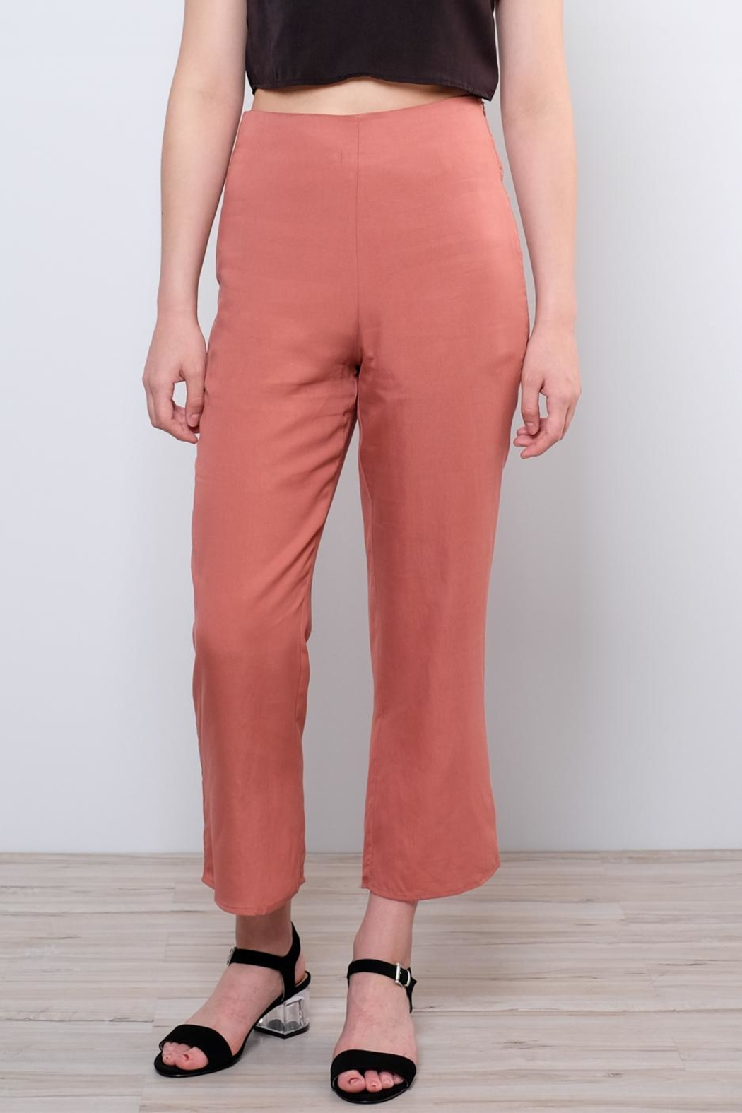 Honey Punch High Waisted Trousers - Front Full Image