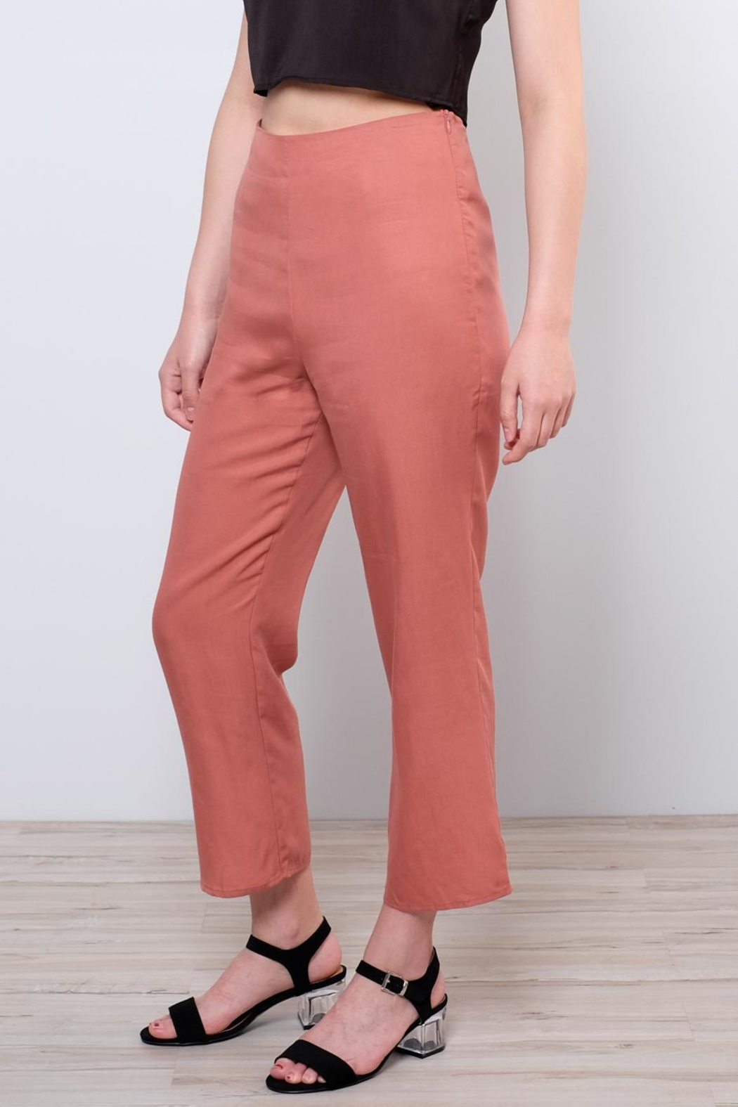 Honey Punch High Waisted Trousers - Side Cropped Image