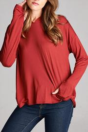 Honey Punch Hooded Long Sleeve Top - Product Mini Image