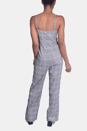 Honey Punch Houndstooth Plaid Jumpsuit - Back cropped
