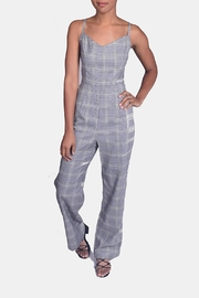 Honey Punch Houndstooth Plaid Jumpsuit - Front cropped