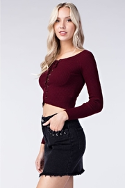 Honey Punch Tie Up Crop Top - Side cropped