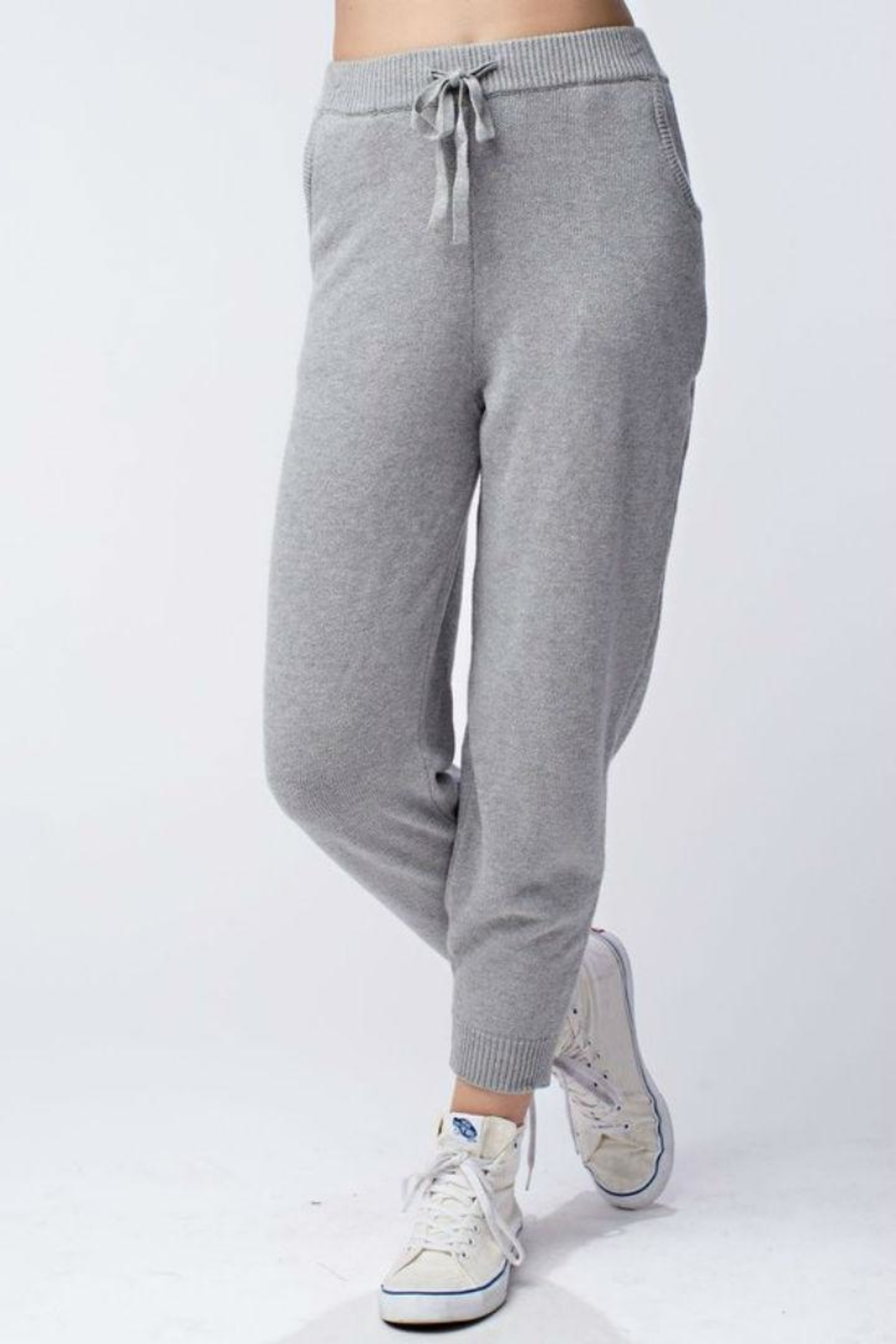 Honey Punch Knit Sweatpants - Front Cropped Image