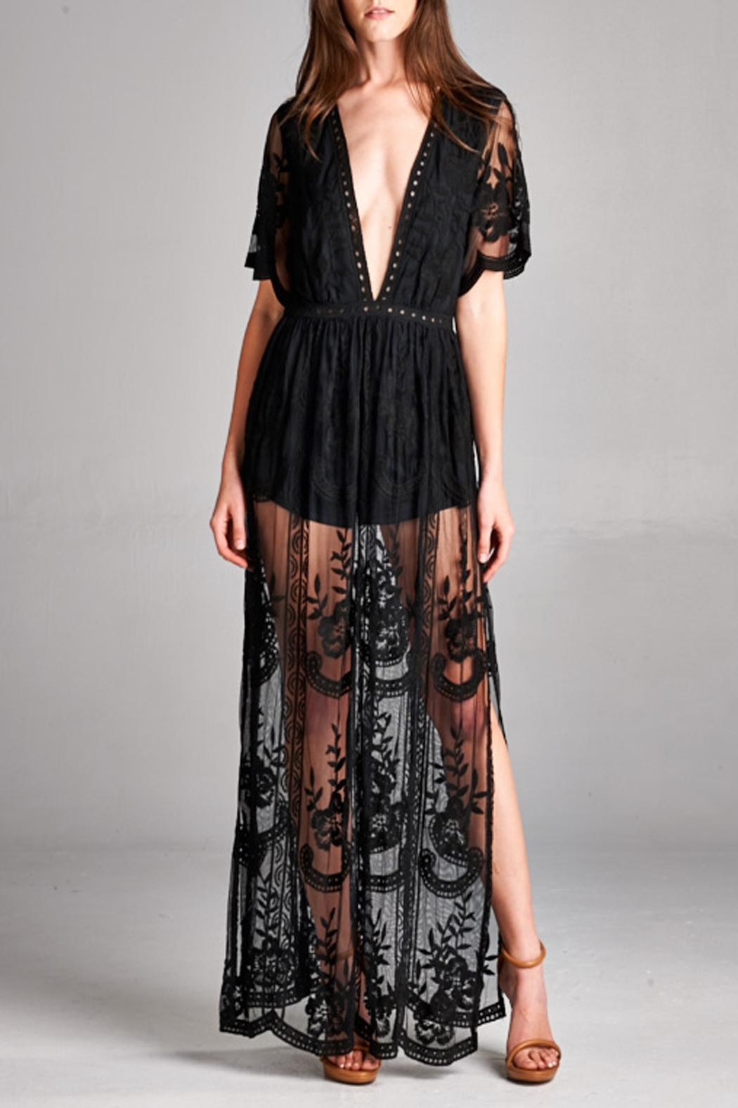3f74aa694c2 Honey Punch Lace Maxi Romper from San Diego by Pretty Seven Boutique ...