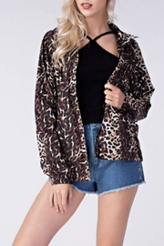 Honey Punch Leopard Coach's Jacket - Product Mini Image