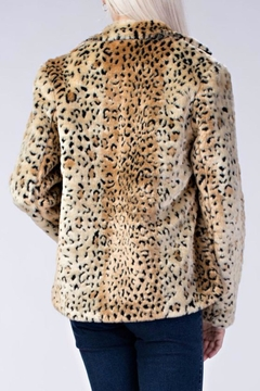 Honey Punch Leopard Faux Fur Coat - Alternate List Image