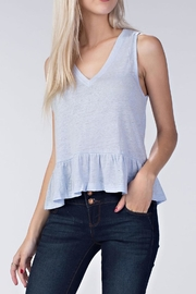 Honey Punch Linen Ruffle Top - Front cropped