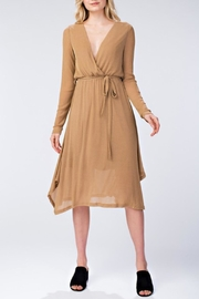 Honey Punch Metallic Wrap Dress - Product Mini Image