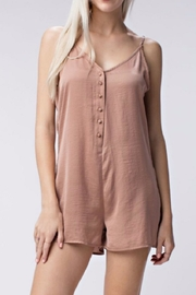 Honey Punch Mocha Romper - Product Mini Image