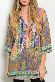 Honey Punch Multicolor Tunic Top - Product Mini Image