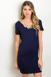 Honey Punch Navy Dress - Product Mini Image