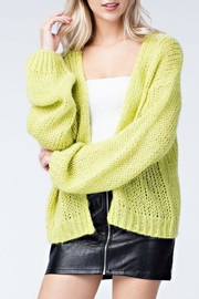 Honey Punch Neon Cardigan - Front cropped