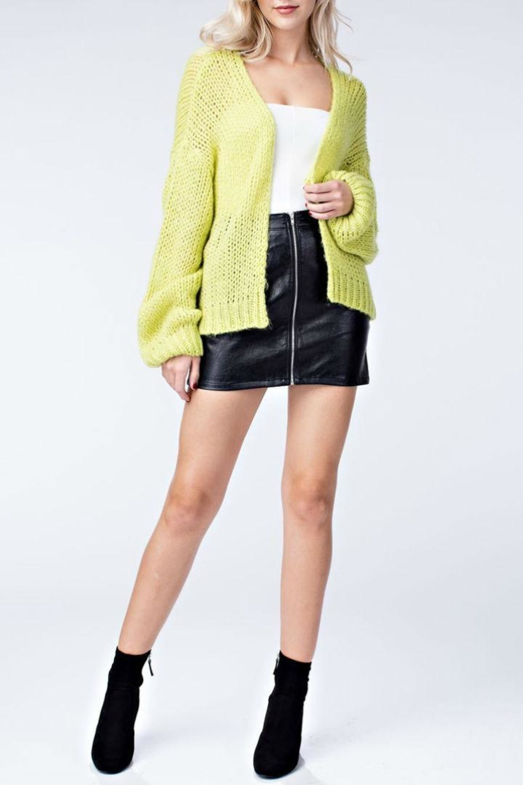 Honey Punch Neon Cardigan - Side Cropped Image