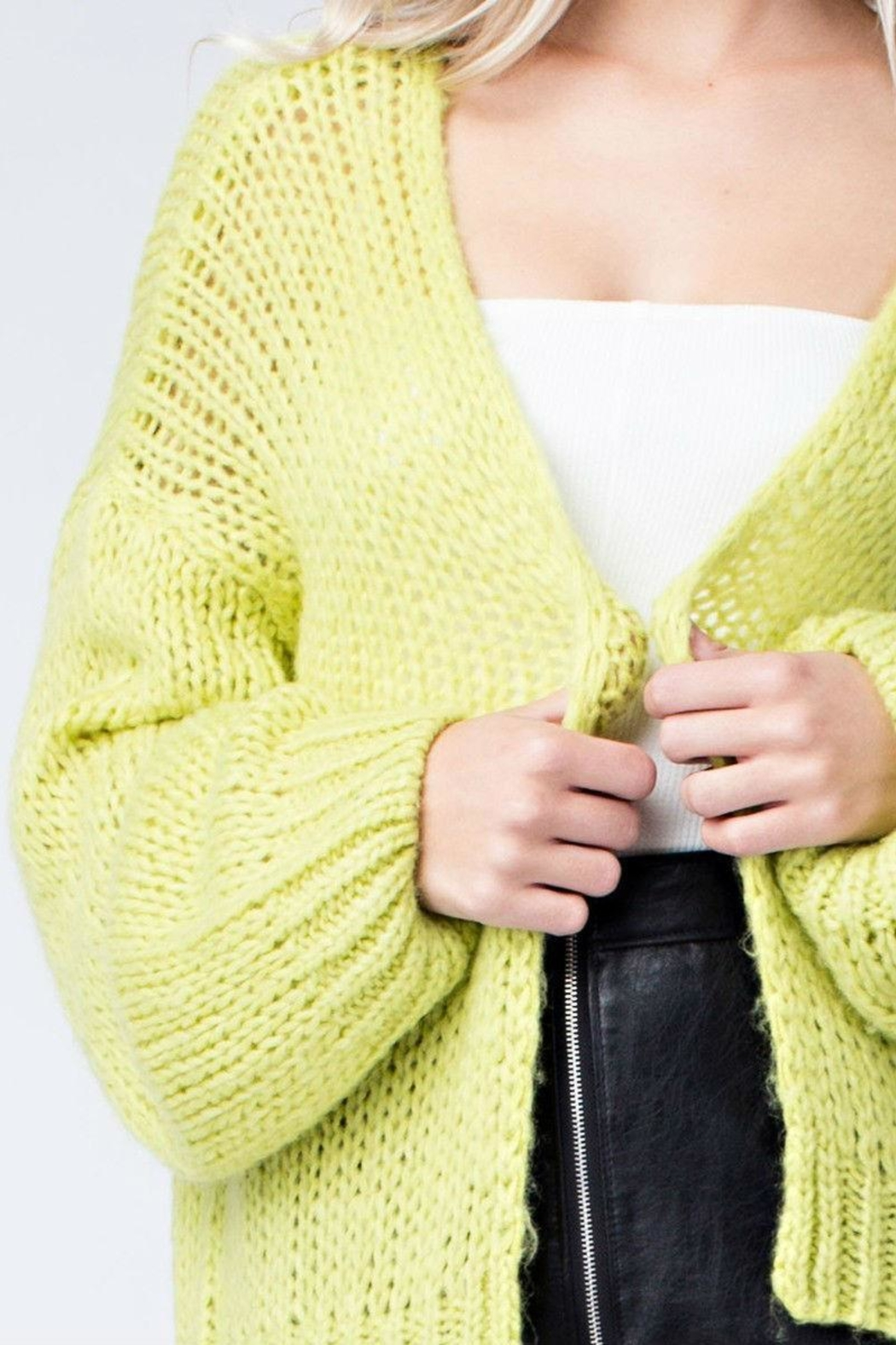 Honey Punch Neon Cardigan - Front Full Image