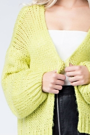 Honey Punch Neon Cardigan - Front full body