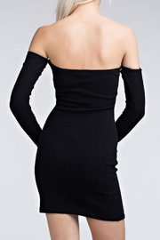 Honey Punch Off Shoulder Bodycon - Front full body