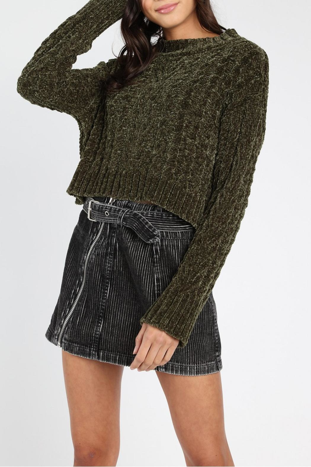 Honey Punch Olvera Chunky-Knit Sweater - Front Full Image