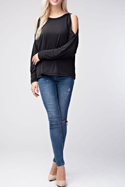 Honey Punch Black Long Sleeve Top - Product Mini Image