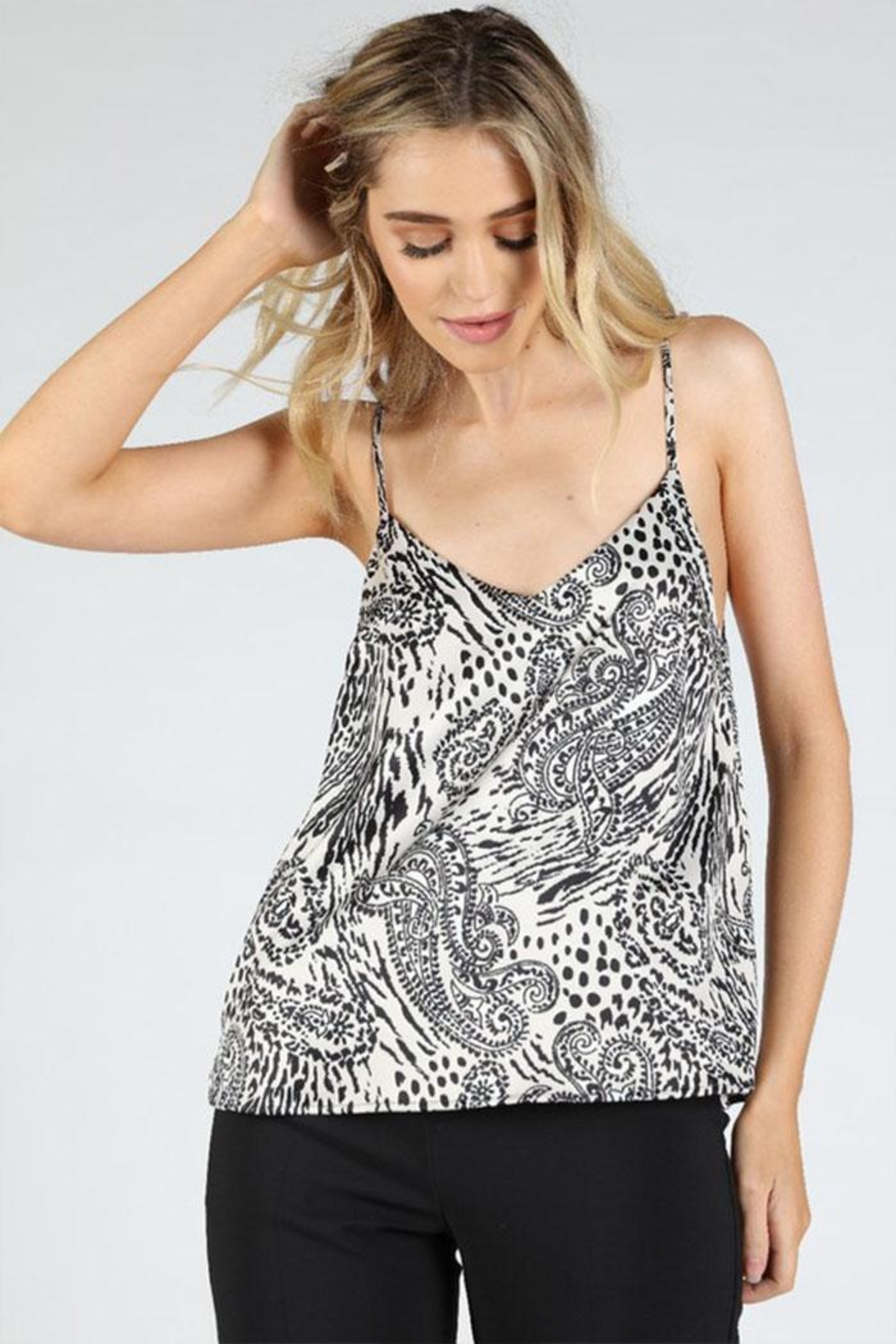 Honey Punch Paisley Cami Top - Front Cropped Image